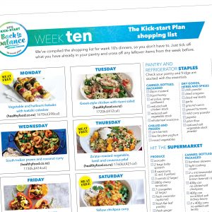 Weight-loss meal plan: Week ten