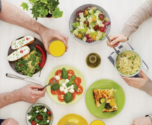 Family meals form better food habits