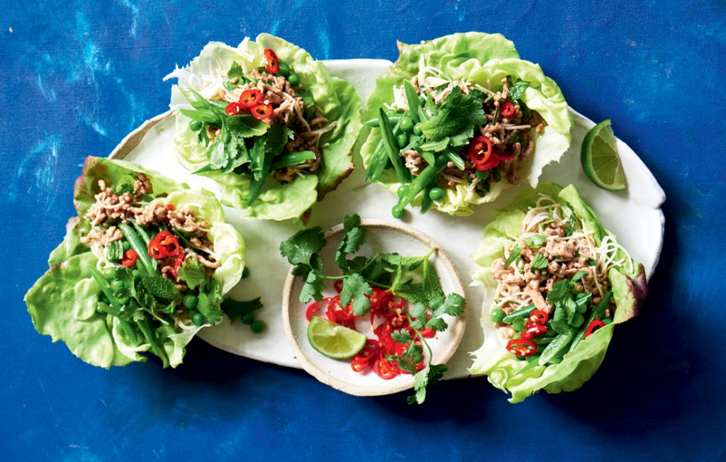 Lime and chilli pork larb