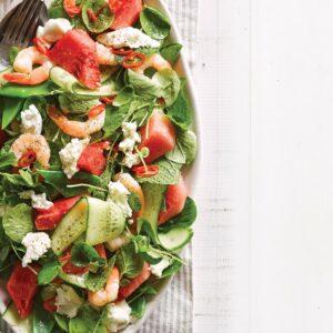 Prawn and watermelon salad