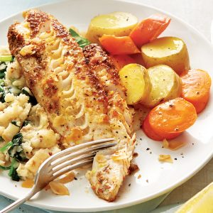 Fish with celeriac mash
