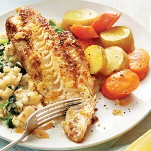 Fish with celeriac mash
