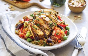 Mediterranean chicken with wholemeal couscous