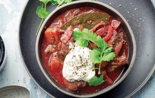 Beef borscht
