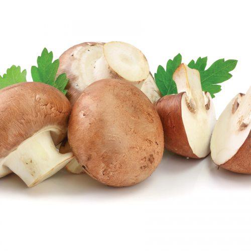 In-season mid winter: Golden tamarillos and swiss brown mushrooms