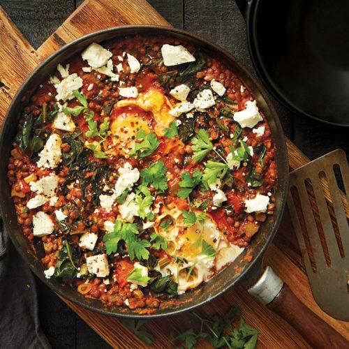 Weeknight meal plan: Shakshuka, chicken veg bake, tofu scramble, lamb ragout