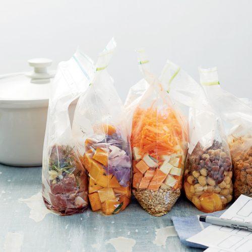 Slow-cooker freezer bags