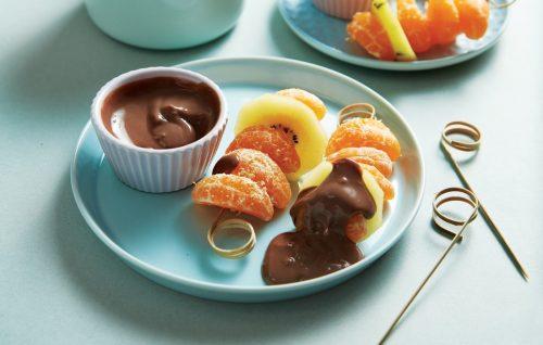 Chocolate orange custard