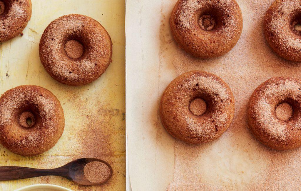 Carrot and cinnamon sugar doughnuts