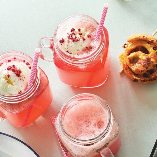 Pink Panther party floats