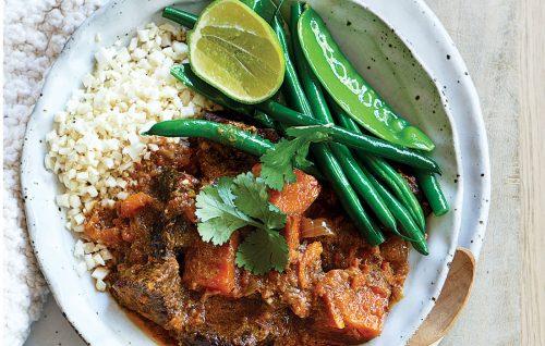 Slow-cooked beef and kumara Massaman curry