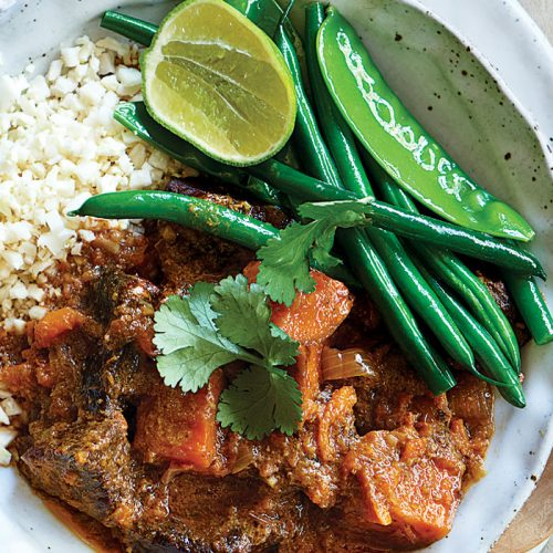 Slow-cooked beef and kumara Massaman curry