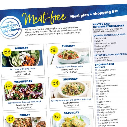 Kick-start meal plan: Vegetarian