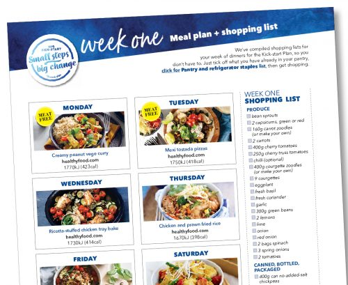 Kick-start meal plan: Week one