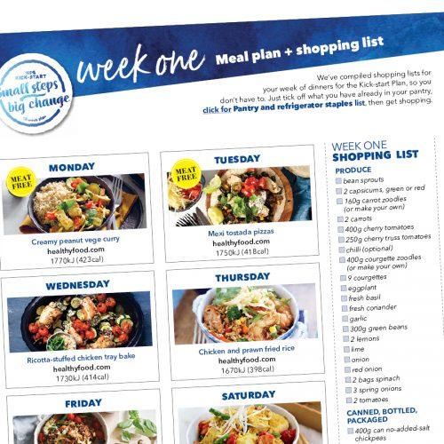 Kick-start meal plan: Week one