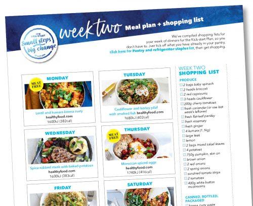 Kick-start meal plan: Week two