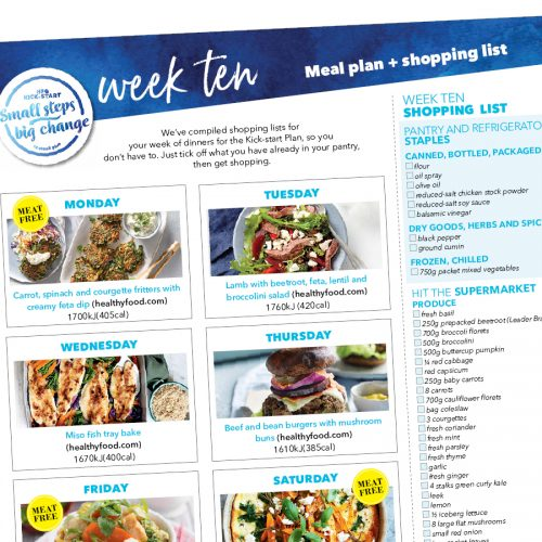 Kick-start meal plan: Week ten