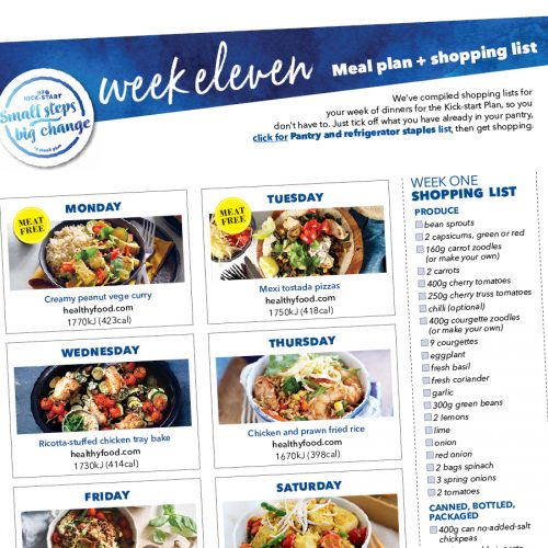 Kick-start meal plan: Week eleven