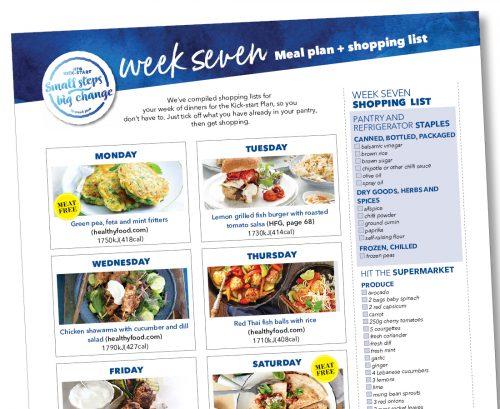Kick-start meal plan: Week seven