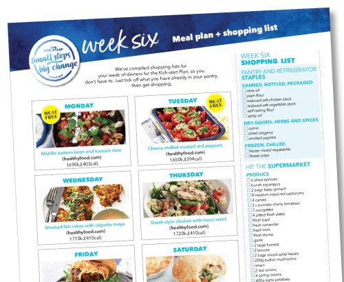 Kick-start meal plan: Week six