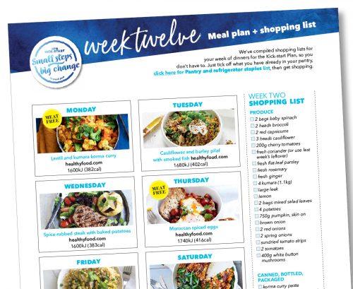 Kick-start meal plan: Week twelve