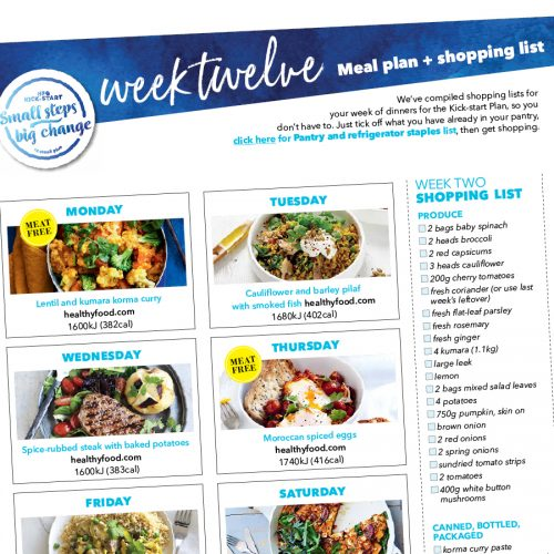 Kick-start meal plan: Week twelve