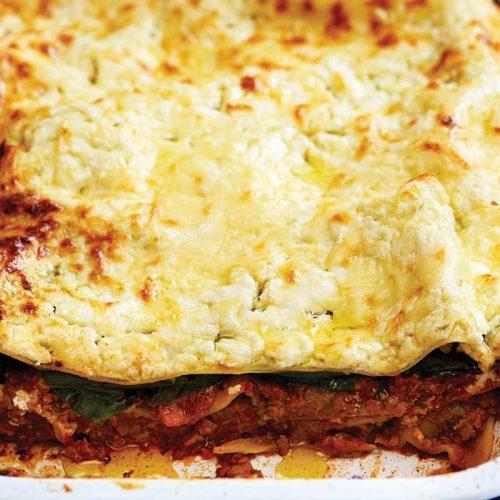 Quick bolognese lasagne