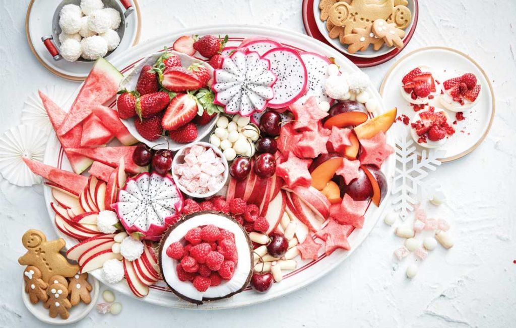 Berry sweet dessert platter