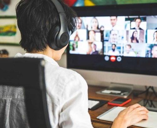 women having an online meeting