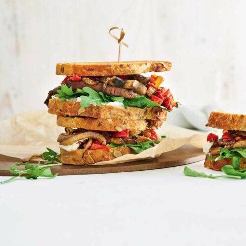 2 veg-packed toasties for a lazy meat-free meal