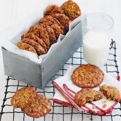 Healthier anzac biscuits