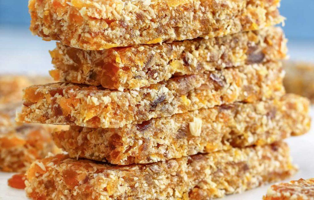 Stack of flapjacks or oat bars