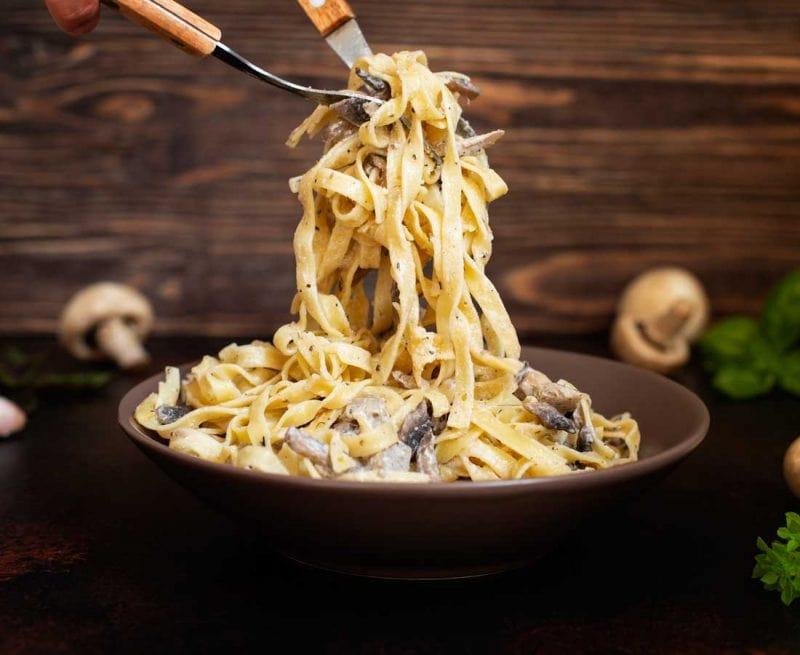 Plate of creamy pasta