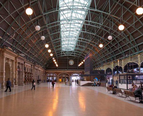 Empty Sydney train station