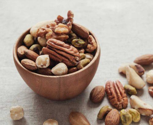 Bowl full of mixed nuts