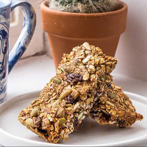 Vegan pumpkin seed and almond granola bars