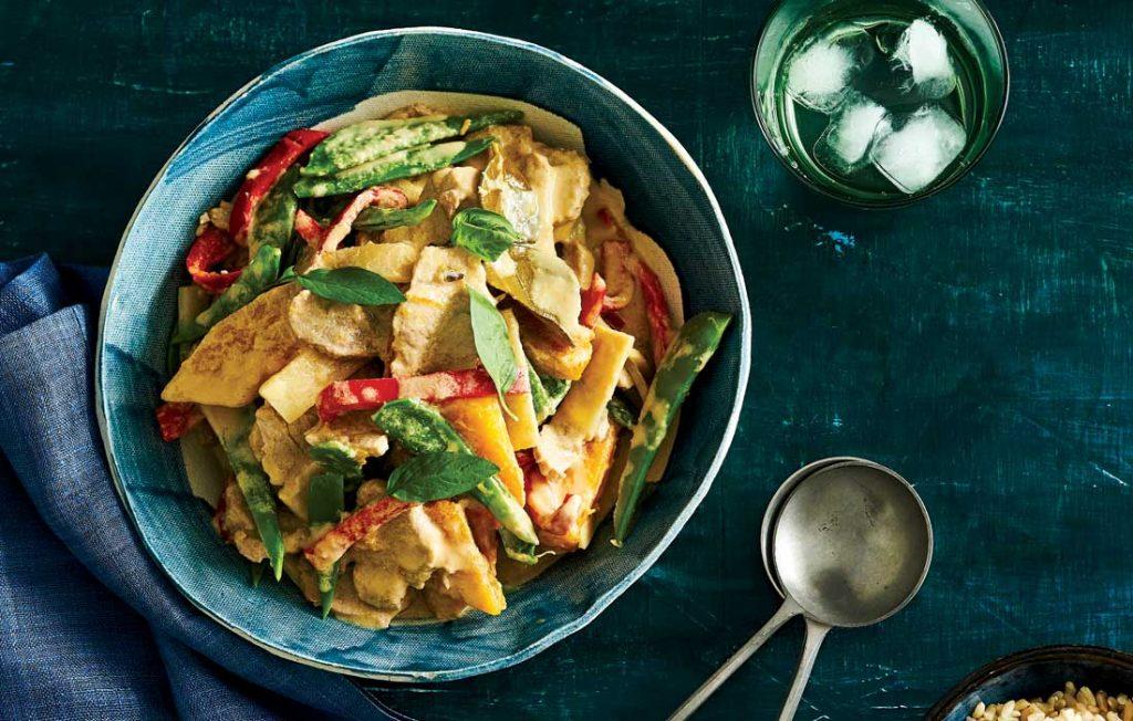 Quick Thai green pork curry