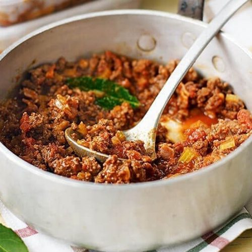 Beef ragù made healthier