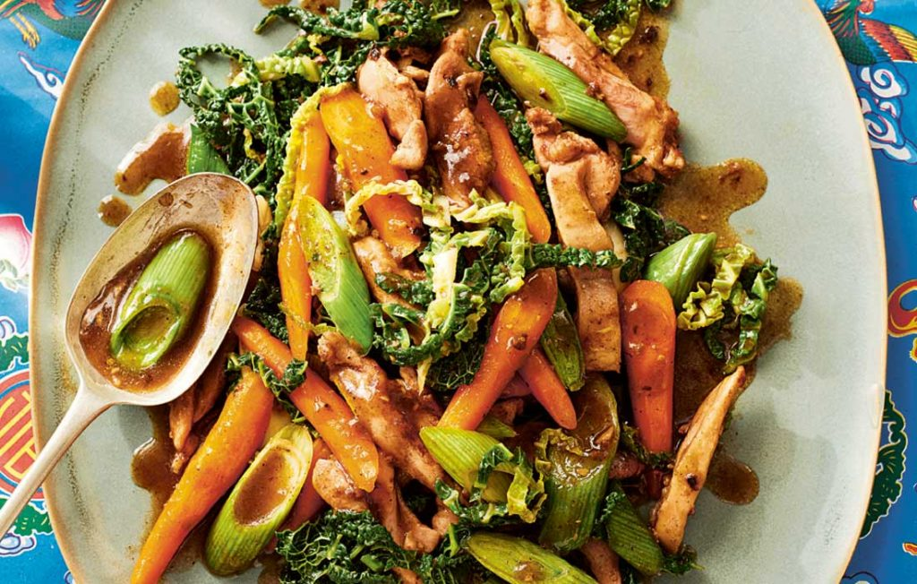 Chicken stir-fry with five-spice sauce