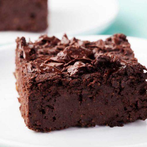 Healthier chocolate brownie