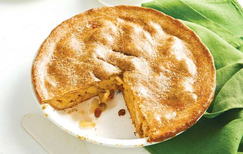 Apple pie with wholemeal chia pastry