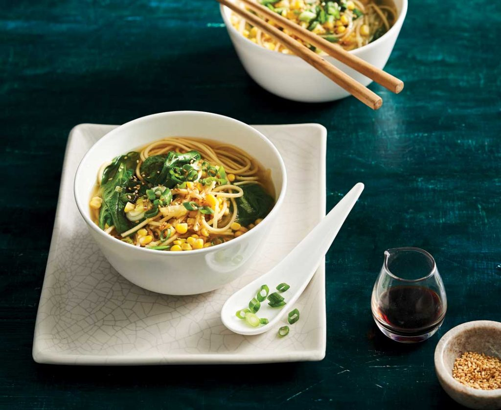 Asian-style-miso-and-corn-soup-with-ramen-noodles