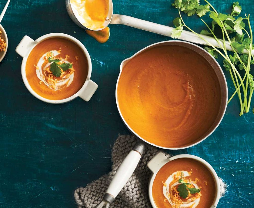Creamy-sweet-potato-&-coconut-soup-with-spicy-sambal