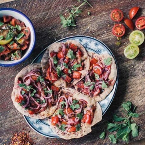Frying-pan Turkish flatbreads