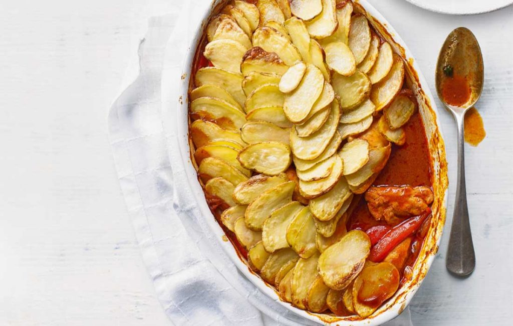 Chicken and vegetable hotpot