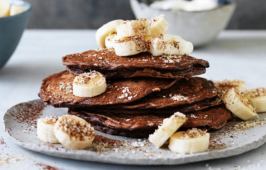 Chocolate Pancakes With Coconut And Bananas Healthy Food Guide