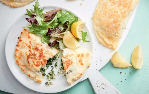 Calzones with spinach and ricotta