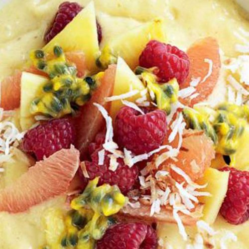 Tropical coconut smoothie bowl