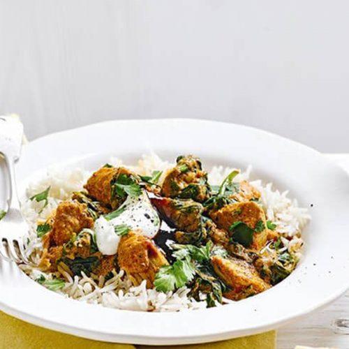 Healthier chicken curry