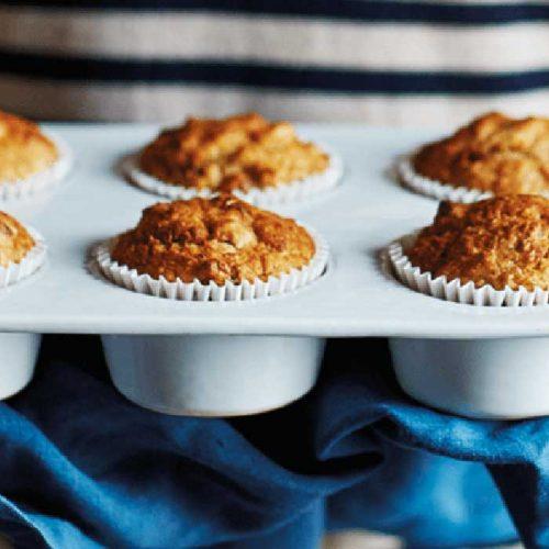 Banana and pecan muffins